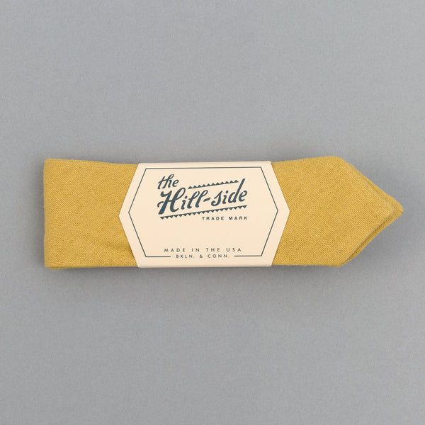 The Hill-Side - Linen / Cotton Oxford Bow Tie,Yellow - BT1-420 - image 1