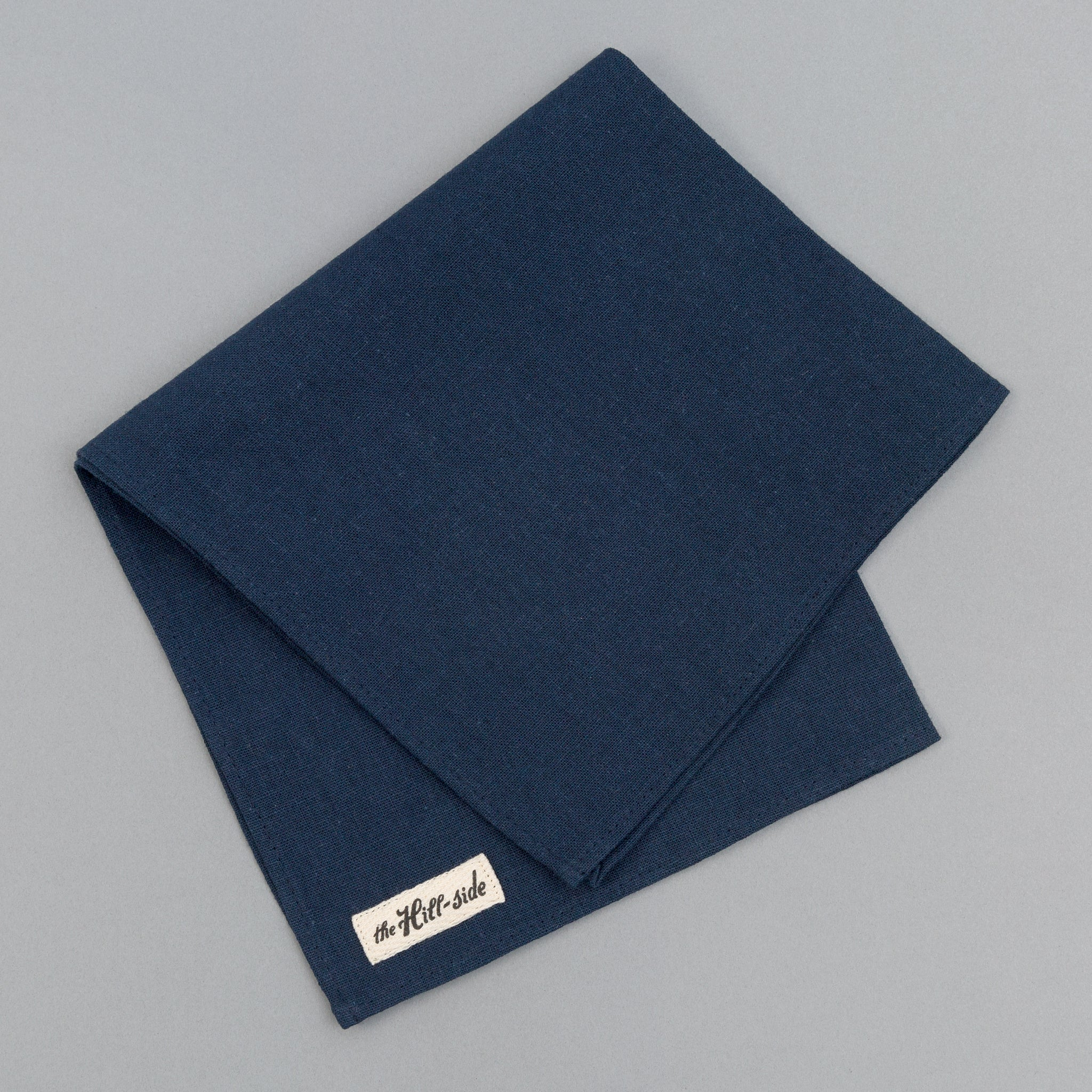 The Hill-Side - Linen / Cotton Oxford Pocket Square, Navy - PS1-418 - image 1
