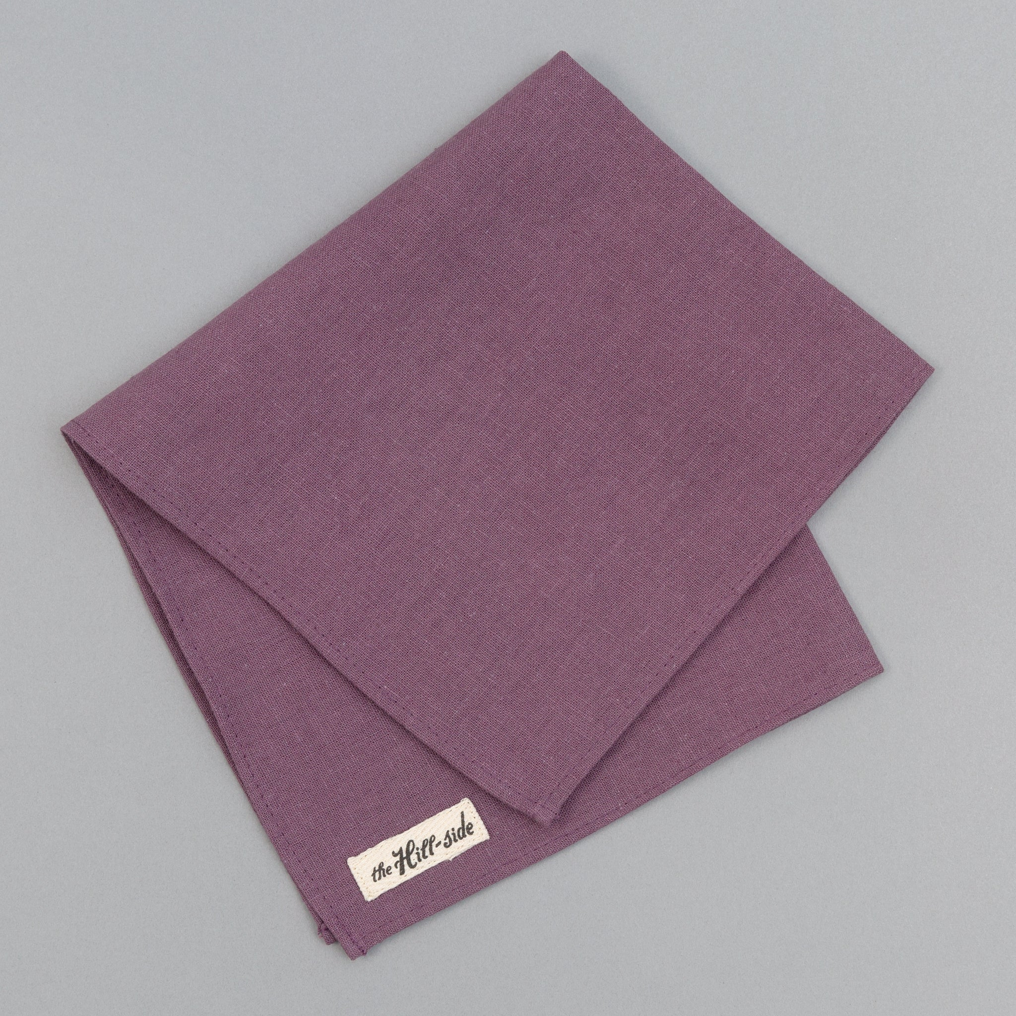 The Hill-Side - Linen / Cotton Oxford Pocket Square, Purple - PS1-419 - image 1