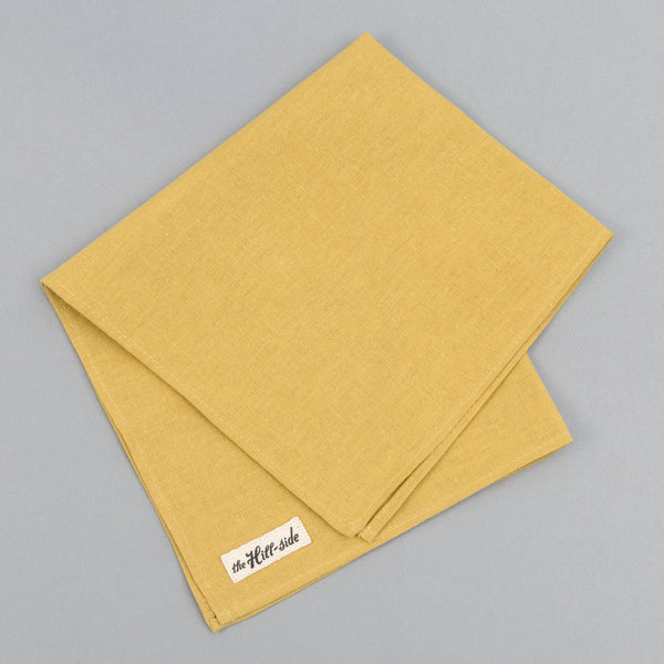 The Hill-Side - Linen / Cotton Oxford Pocket Square, Yellow - PS1-420 - image 1
