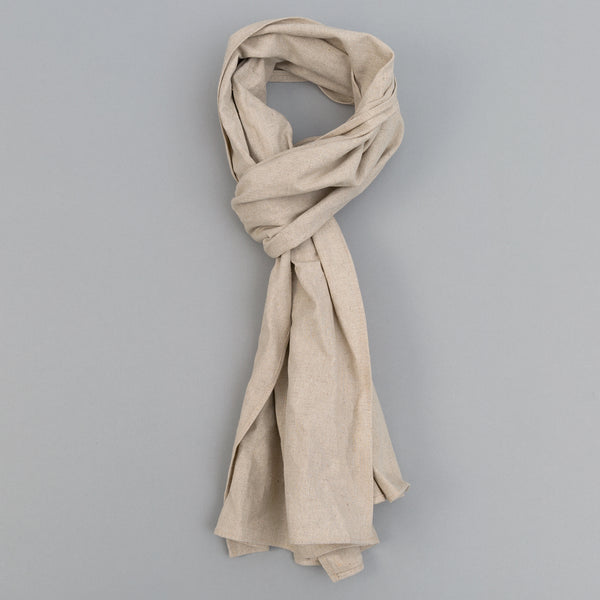 The Hill-Side - Linen / Cotton Oxford Scarf, Natural - SC1-416 - image 1