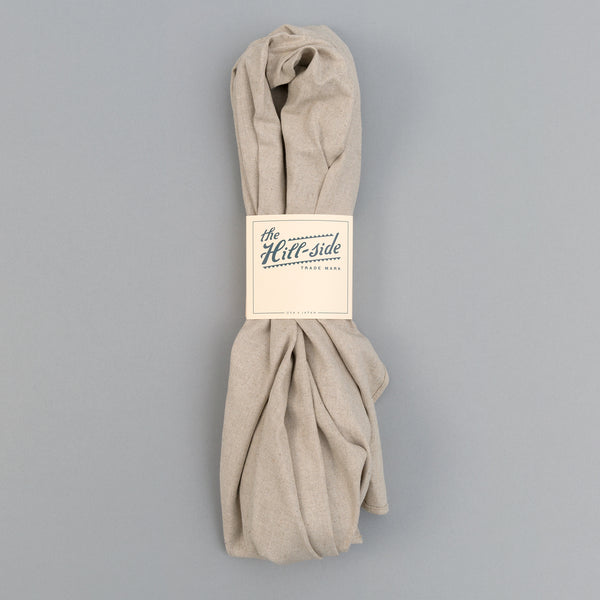 The Hill-Side - Linen / Cotton Oxford Scarf, Natural - SC1-416 - image 2