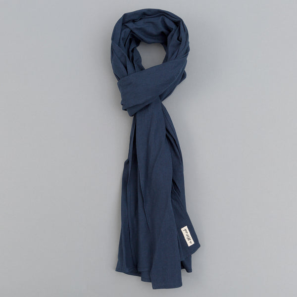 The Hill-Side - Linen / Cotton Oxford Scarf, Navy - SC1-418 - image 1