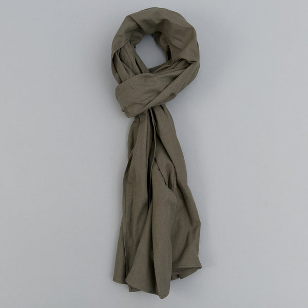 The Hill-Side - Linen / Cotton Oxford Scarf, Olive - SC1-417 - image 1