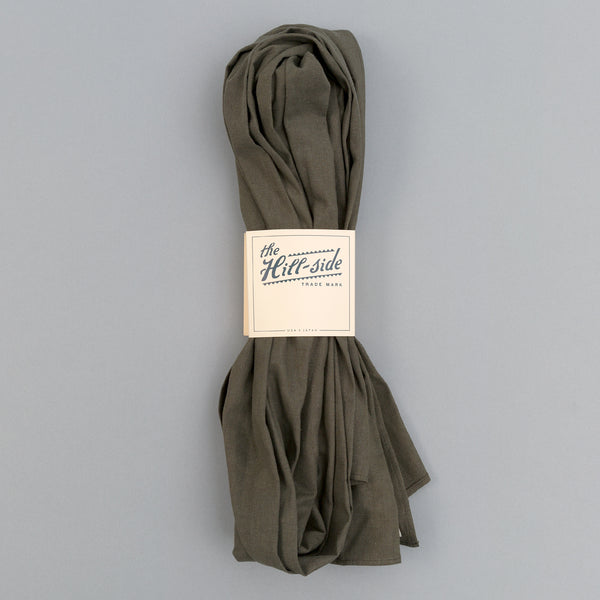 The Hill-Side - Linen / Cotton Oxford Scarf, Olive - SC1-417 - image 2