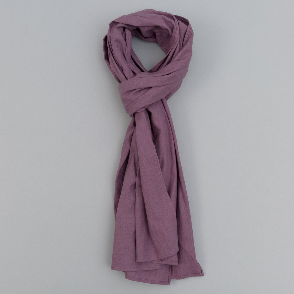 The Hill-Side - Linen / Cotton Oxford Scarf, Purple - SC1-419 - image 1