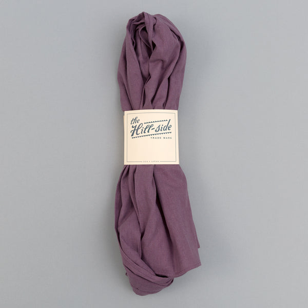 The Hill-Side - Linen / Cotton Oxford Scarf, Purple - SC1-419 - image 2
