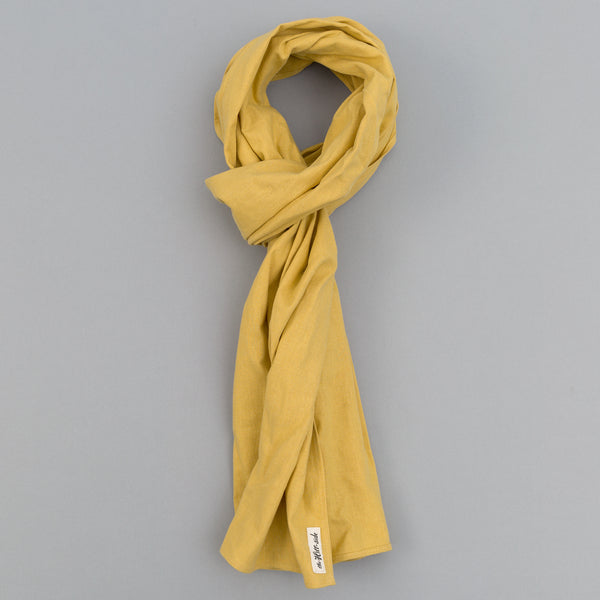 The Hill-Side - Linen / Cotton Oxford Scarf, Yellow - SC1-420 - image 1