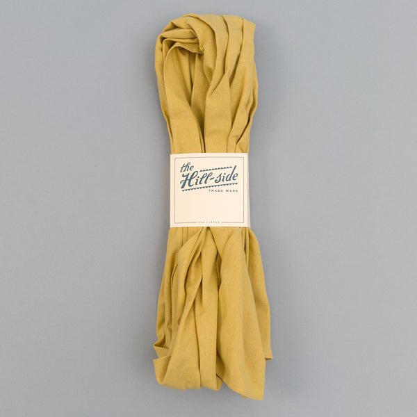 The Hill-Side - Linen / Cotton Oxford Scarf, Yellow - SC1-420 - image 2