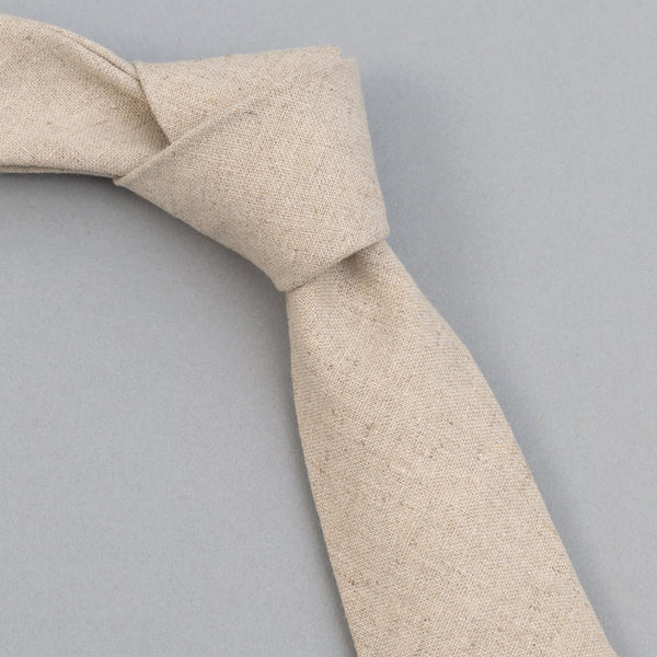 The Hill-Side - Linen/Cotton Oxford Tie, Natural - PT1-416 - image 1