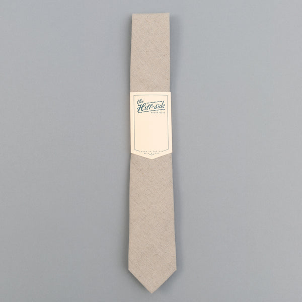 The Hill-Side - Linen/Cotton Oxford Tie, Natural - PT1-416 - image 2