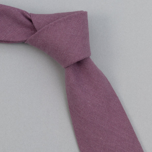 The Hill-Side - Linen / Cotton Oxford Tie, Purple - PT1-419 - image 1