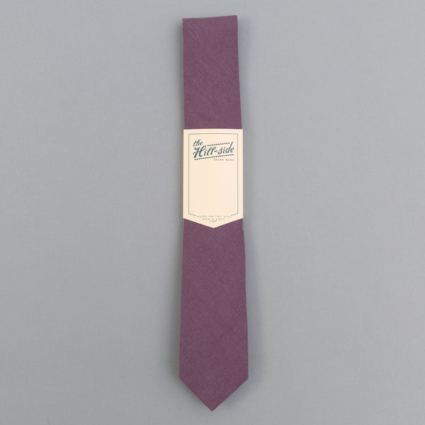 The Hill-Side - Linen / Cotton Oxford Tie, Purple - PT1-419 - image 2