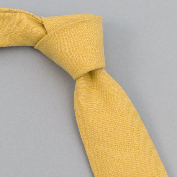 The Hill-Side - Linen / Cotton Oxford Tie, Yellow - PT1-420 - image 1