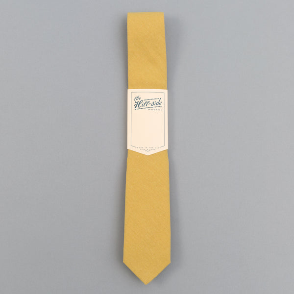 The Hill-Side - Linen / Cotton Oxford Tie, Yellow - PT1-420 - image 2