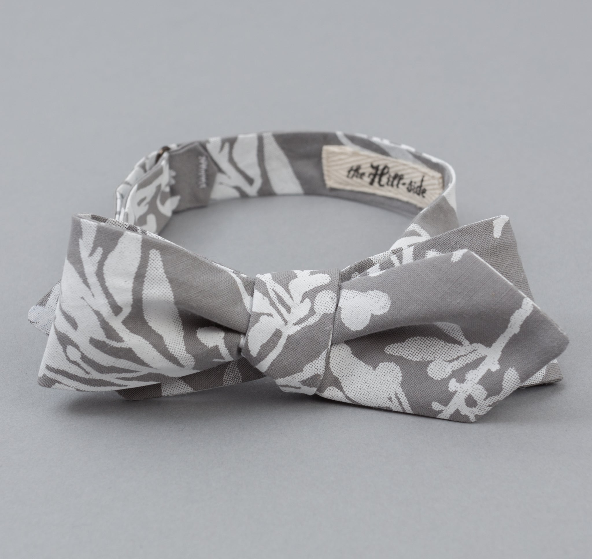 The Hill-Side - Liza's Tree Drawings Bow Tie, Grey - BT1-347 - image 1