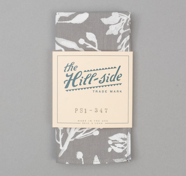 The Hill-Side - Liza's Tree Drawings Pocket Square, Grey - PS1-347 - image 2