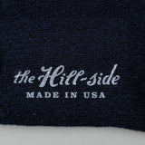 The Hill-Side - Merino Wool Ragg Socks, Navy - SX5-01 - image 2
