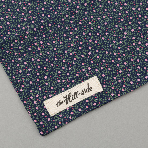 The Hill-Side Micro Calico Print Bandana, Navy