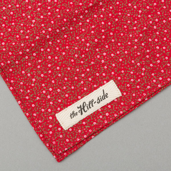 The Hill-Side Micro Calico Print Bandana, Red