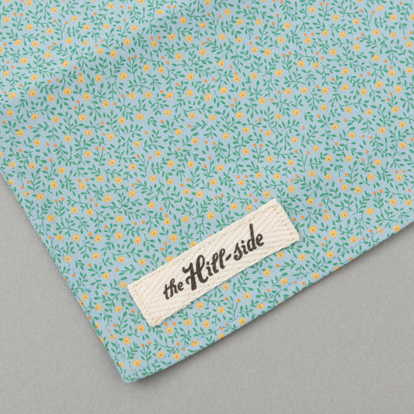 The Hill-Side Micro Calico Print Bandana, Turquoise