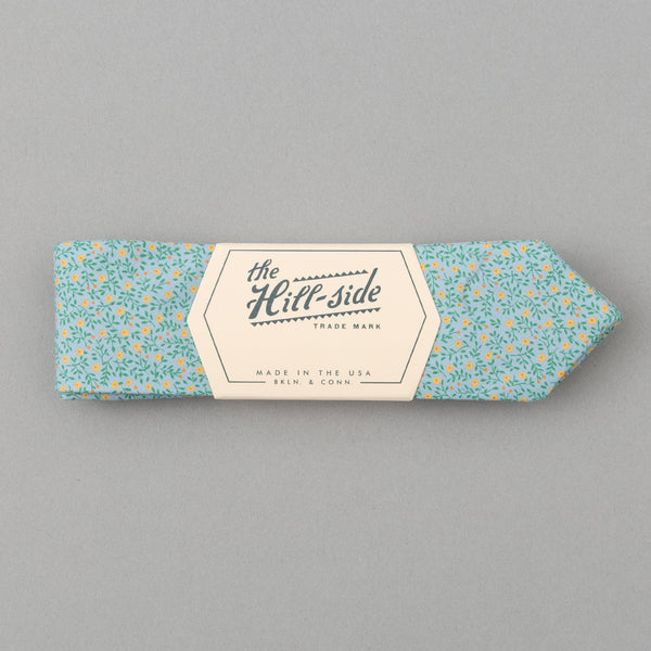 The Hill-Side - Micro Calico Print Bow Tie, Turquoise - BT1-496 - image 1