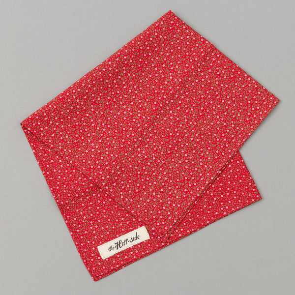The Hill-Side Micro Calico Print Pocket Square, Red