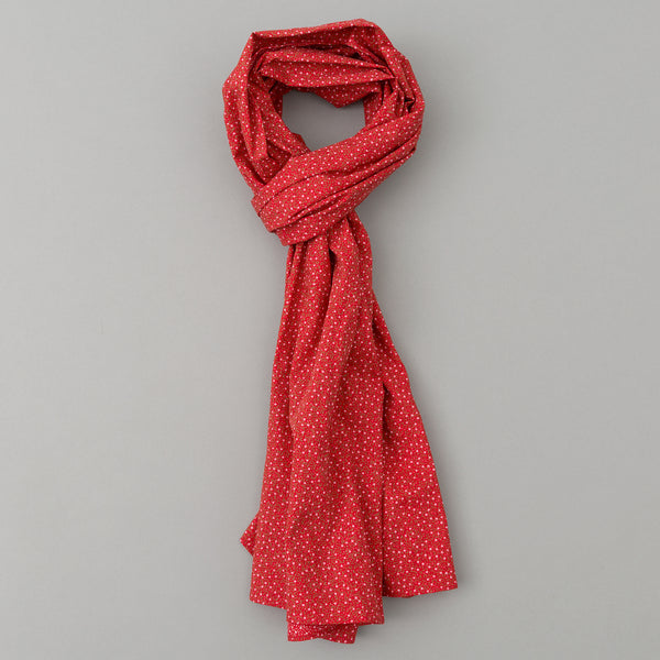 The Hill-Side - Micro Calico Print Scarf, Red - SC1-495 - image 1