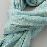 The Hill-Side - Micro Calico Print Scarf, Turquoise - SC1-496 - image 3