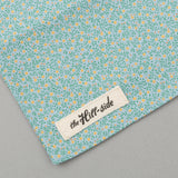 The Hill-Side - Micro Calico Print Scarf, Turquoise - SC1-496 - image 4
