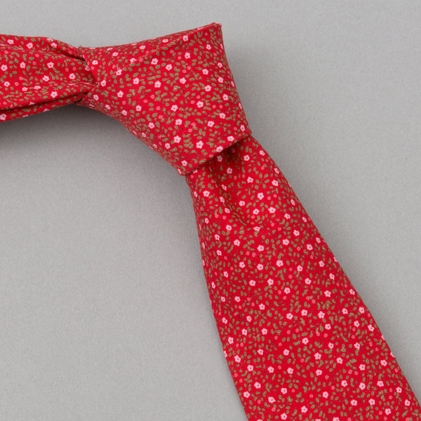 The Hill-Side Micro Calico Print Tie, Red