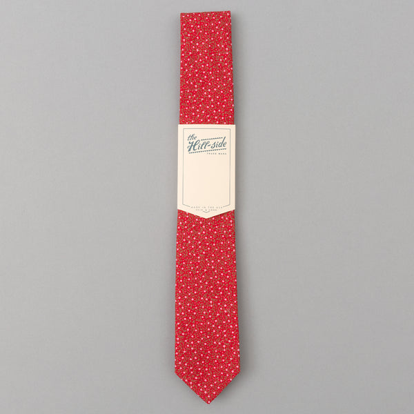 The Hill-Side - Micro Calico Print Tie, Red - PT1-495 - image 2