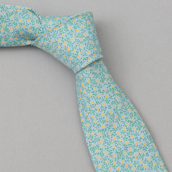 The Hill-Side - Micro Calico Print Tie, Turquoise - PT1-496 - image 1