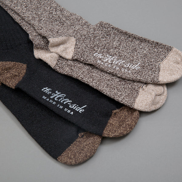 The Hill-Side - Mixed 2-Pack Socks, Salt & Pepper and Black Socks - SX11-01