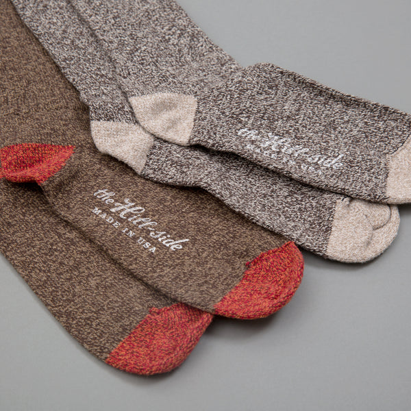 The Hill-Side - Mixed 2-Pack Socks, Salt & Pepper and Brown - SX11-03 - image 2