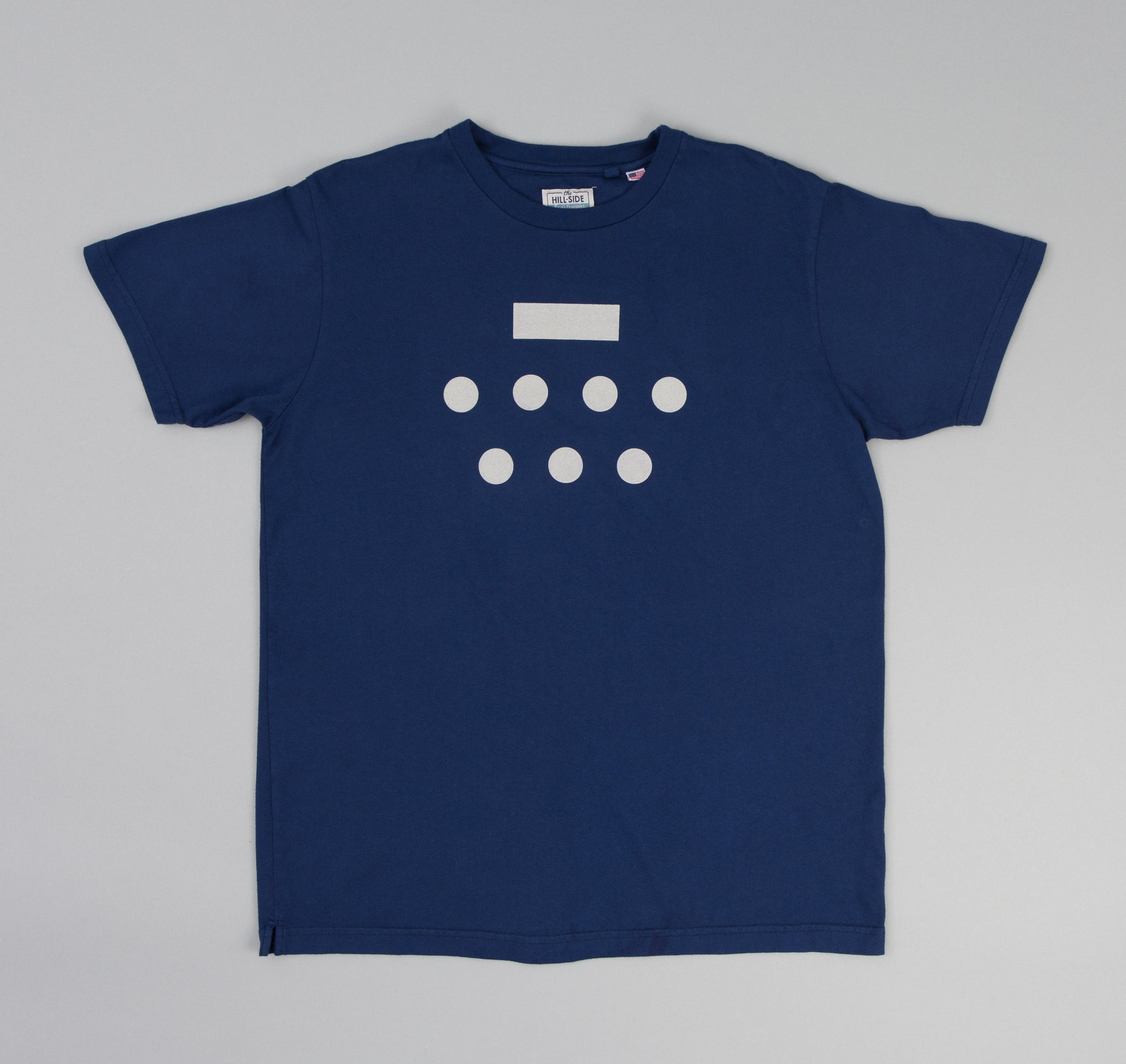 The Hill-Side - Morse Code Printed T-Shirt, Cobalt - TS1-0507 - image 1