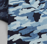 The Hill-Side - Multi-Discharge Cloud Print Pocket Square, Indigo - PS1-272 - image 2