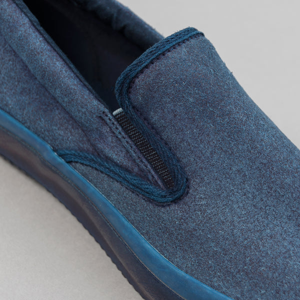 The Hill-Side - New Slip-On, Indigo Overdyed Two-Tone Synth Suede - SN11-180IND