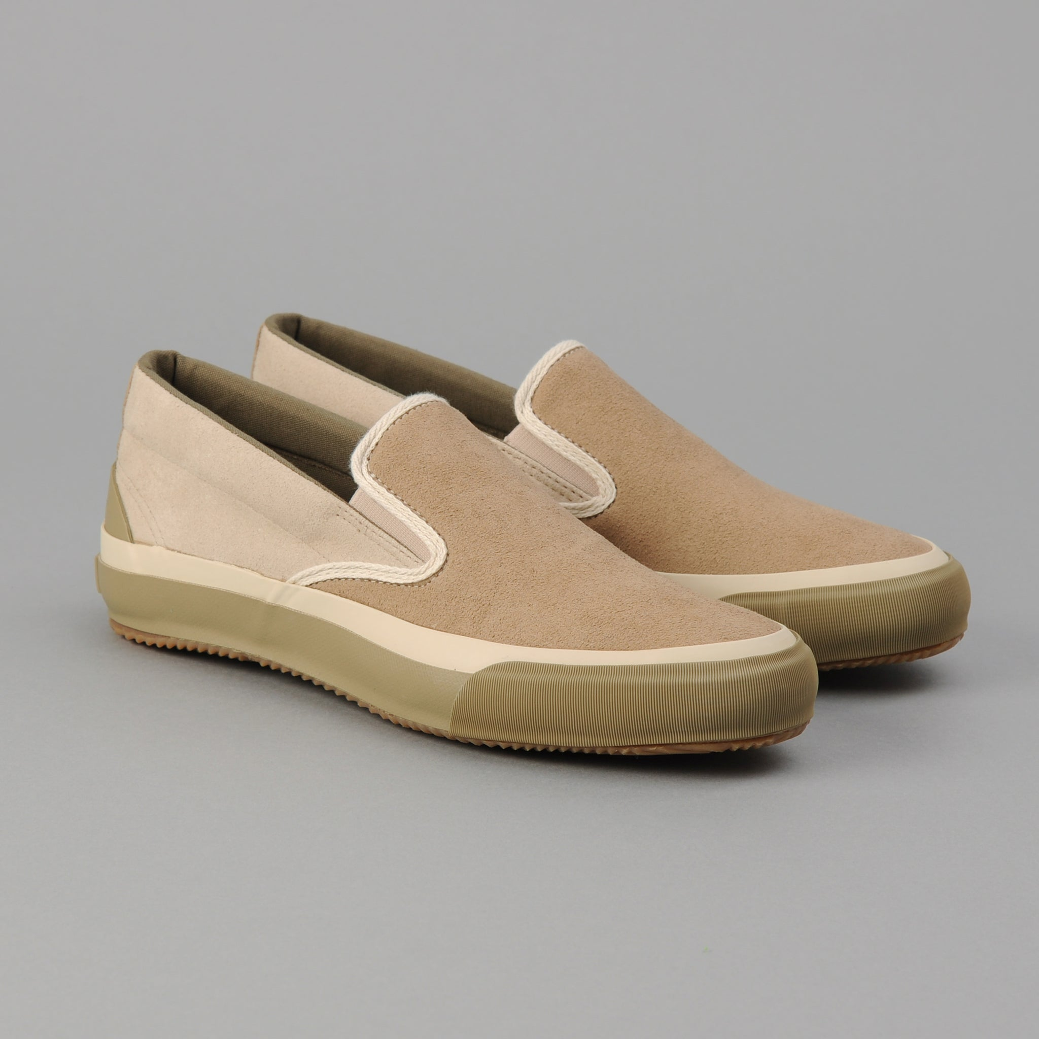 The Hill-Side - New Slip-On, Two-Tone Synth Suede - SN5-474