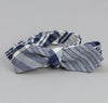 The Hill-Side - Non-Repeating Check Oxford Bow Tie, Indigo / White - BT1-321 - image 1