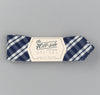 The Hill-Side - Non-Repeating Check Oxford Bow Tie, Indigo / White - BT1-321 - image 2