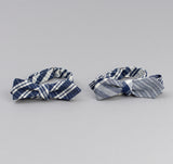 The Hill-Side - Non-Repeating Check Oxford Bow Tie, Indigo / White - BT1-321 - image 3