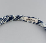 The Hill-Side - Non-Repeating Check Oxford Bow Tie, Indigo / White - BT1-321 - image 5