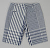 The Hill-Side - Non-Repeating Check Oxford Fatigue Shorts, Indigo / White - SP1-321 - image 3