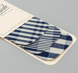 The Hill-Side - Non-Repeating Check Oxford Iron-On Patches, Indigo / White - PA1-321 - image 2