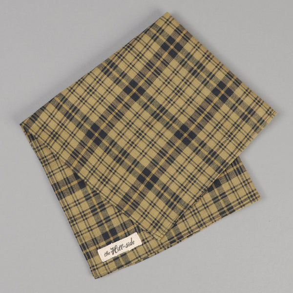 The Hill-Side - OD Indian Madras Pocket Square, Navy Check - PS1-425 - image 1