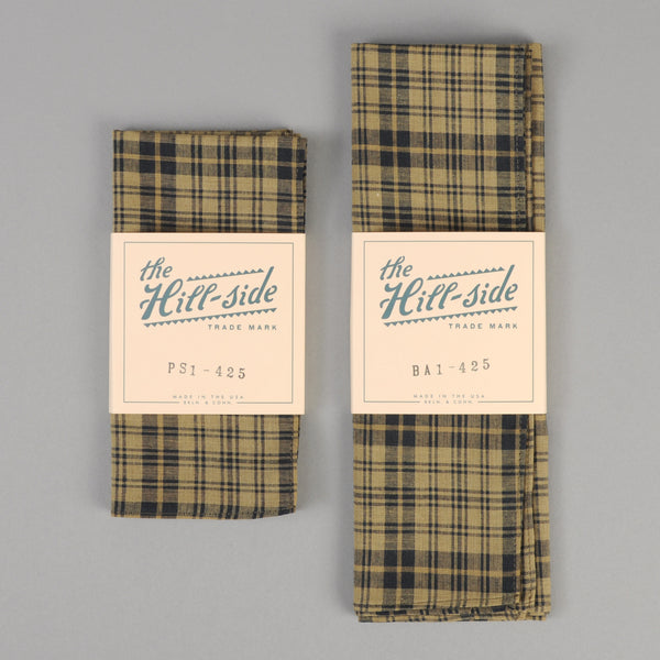 The Hill-Side - OD Indian Madras Pocket Square, Navy Check - PS1-425 - image 2