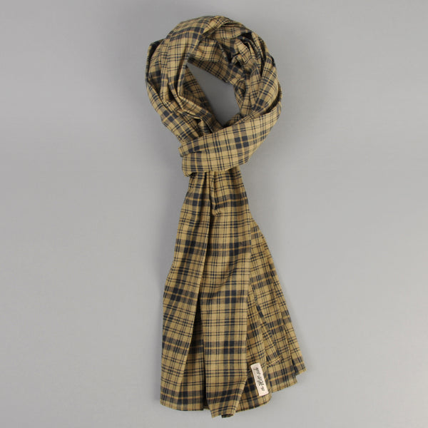 The Hill-Side - OD Indian Madras Scarf, Navy Check - SC1-425 - image 1