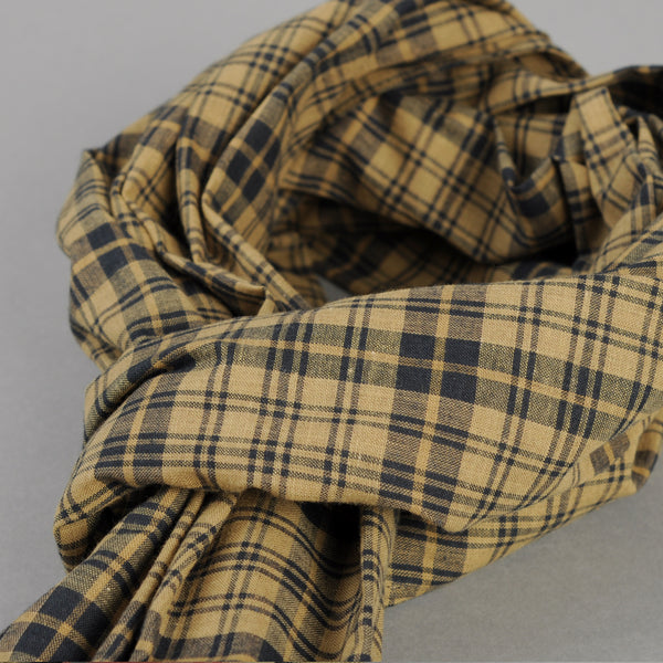 The Hill-Side - OD Indian Madras Scarf, Navy Check - SC1-425 - image 2