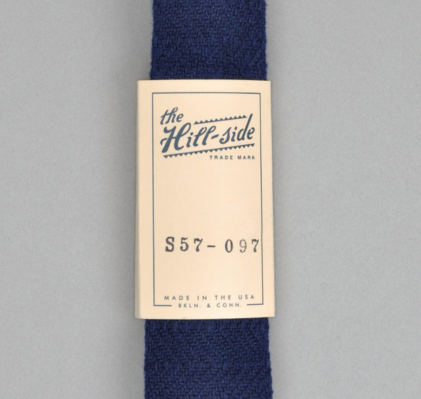 "The Hill-Side ""OLD VIRGINIA MODIFIED HERRINGBONE"" TIE, MARINE/MARINE"
